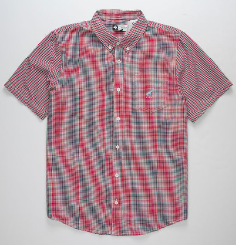 LRG Lifted Gingham s/s button up