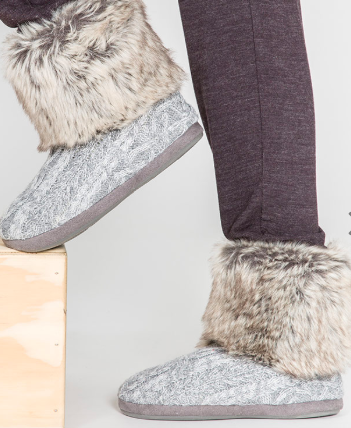 PJ Salvage Cable Knit bootie