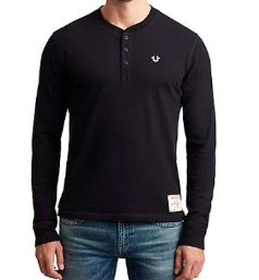 True Religion Embroidered l/s henley