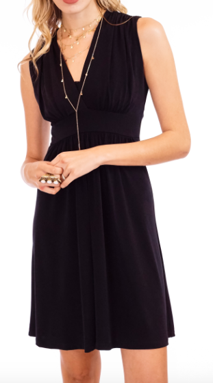 Veronica M v-neck sleeveless dress