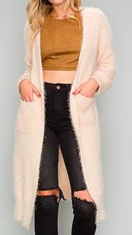 Aakaa pocket cardigan sweater