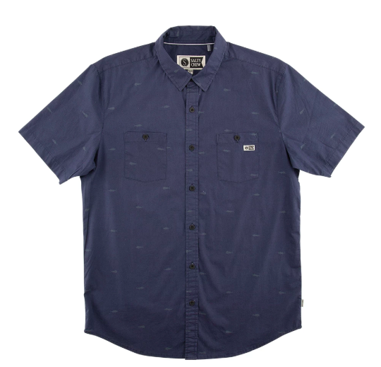 Salty Crew Fish Pin s/s button up