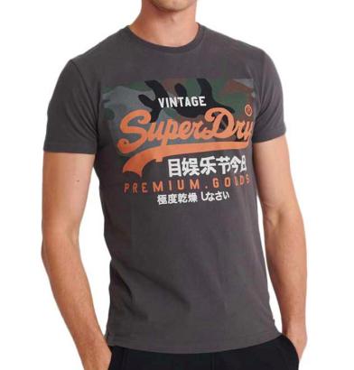 SuperDry Vintage Logo Premium Goods Camo tee