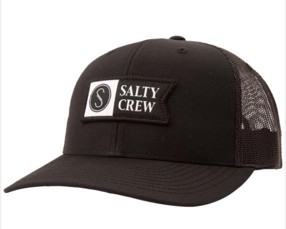 Salty Crew Pinnacle 2 Black Retro Trucker