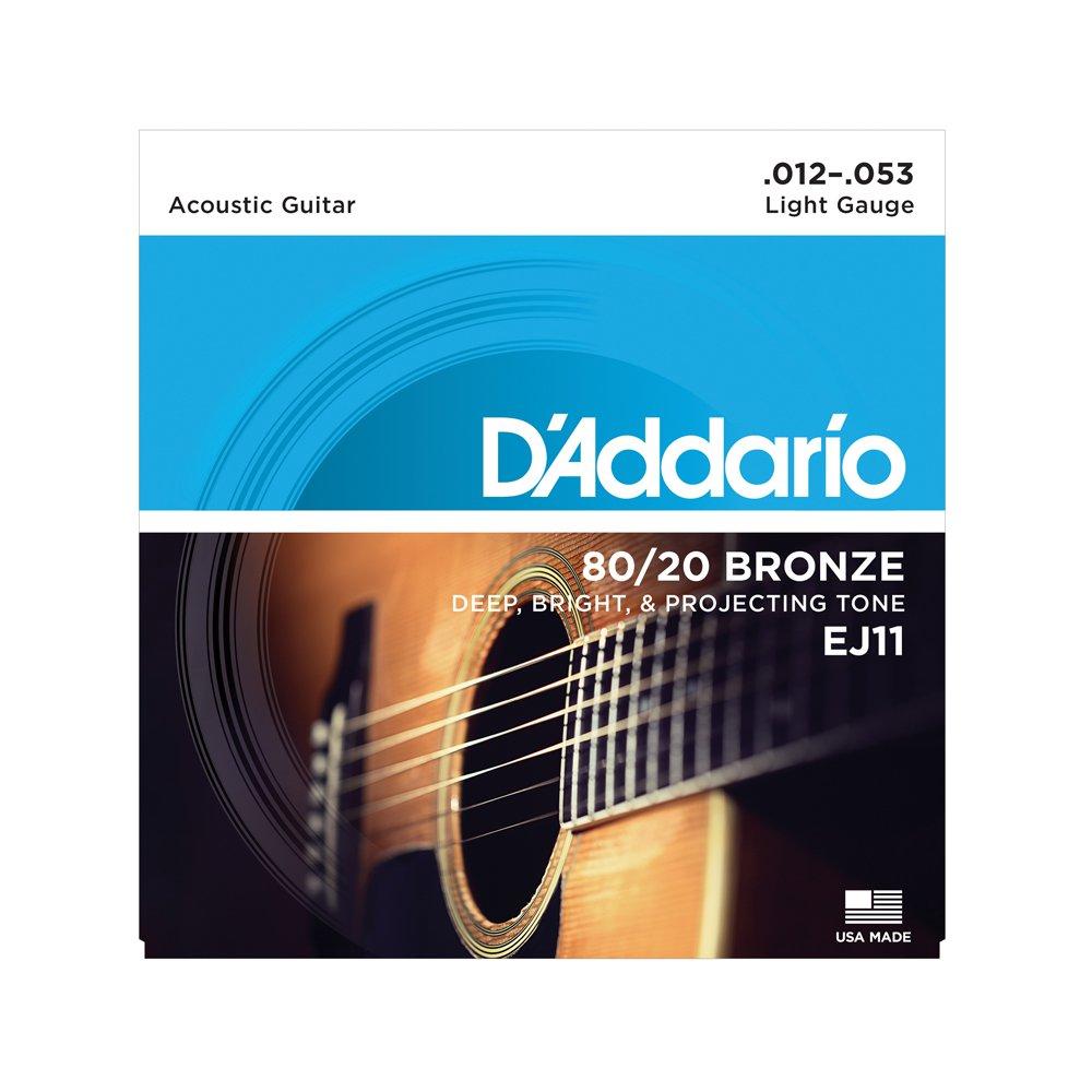 D'Addario EJ11 Light Acoustic 80/20 Bronze 12-53