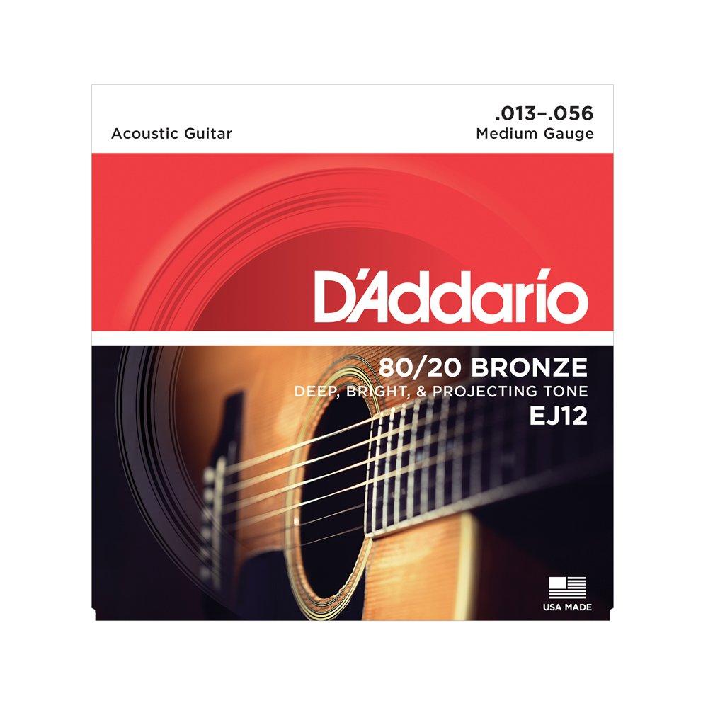 D'Addario EJ12 Medium Acoustic 80/20 Bronze 13-56