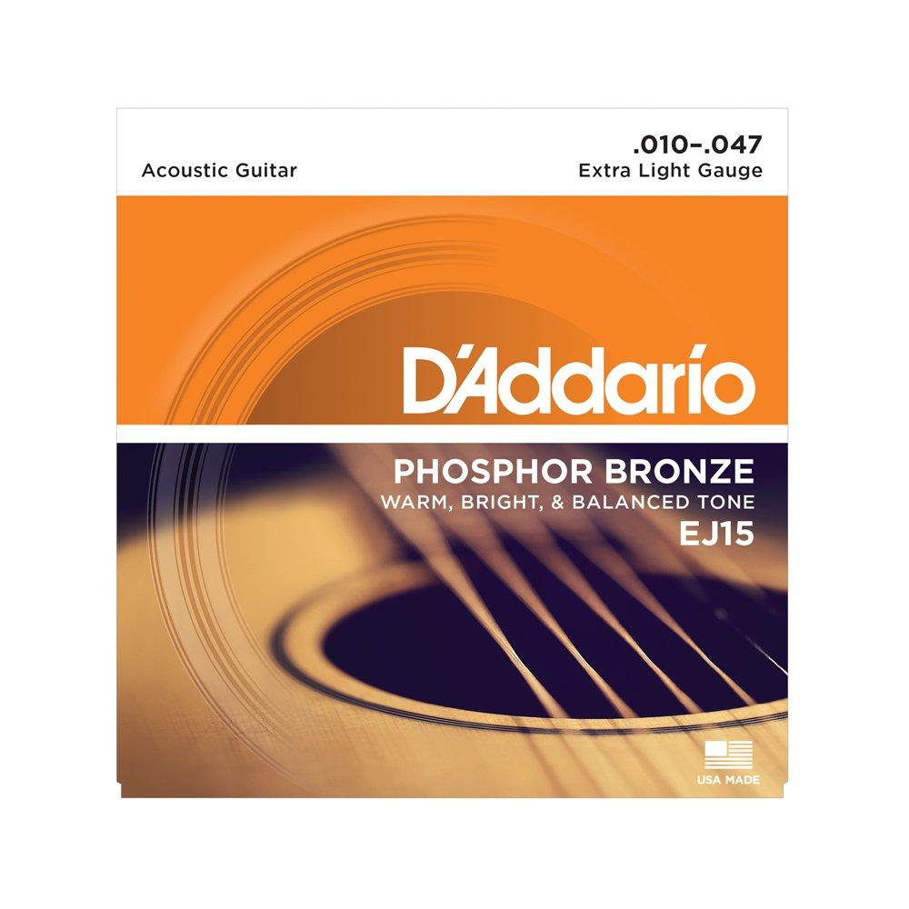 D'Addario EJ15 Extra Light Acoustic Phosphor Bronze 10-47