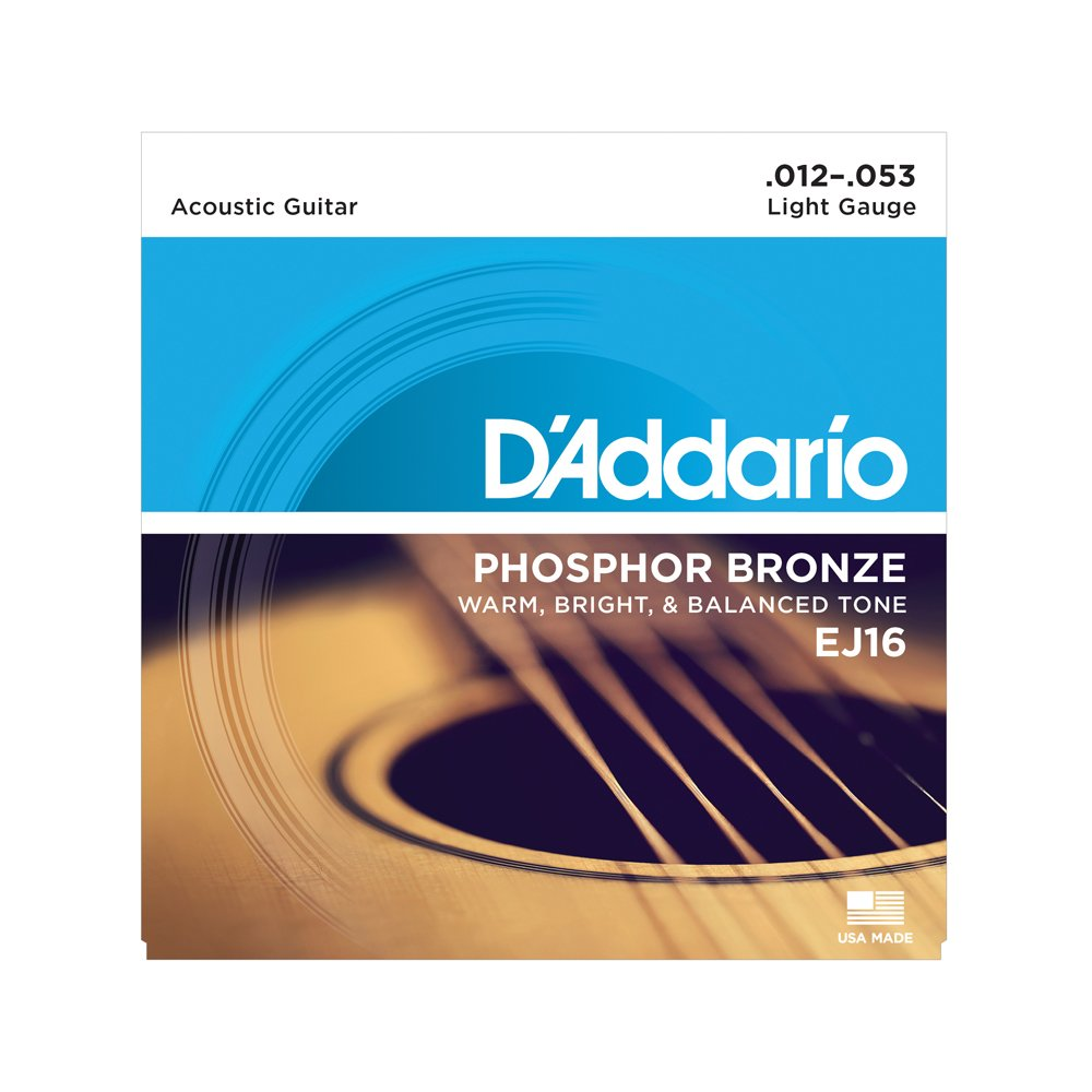 D'Addario EJ16 Light Acoustic Phosphor Bronze 12-53