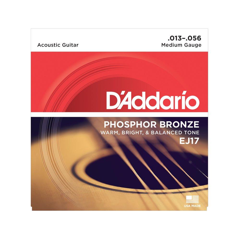 D'Addario EJ17 Medium Acoustic Phosphor Bronze 13-56