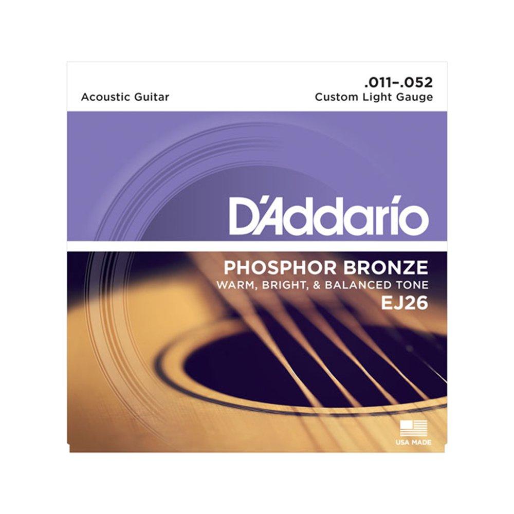 D'Addario EJ26 Custom Light Acoustic Phosphor Bronze 11-52