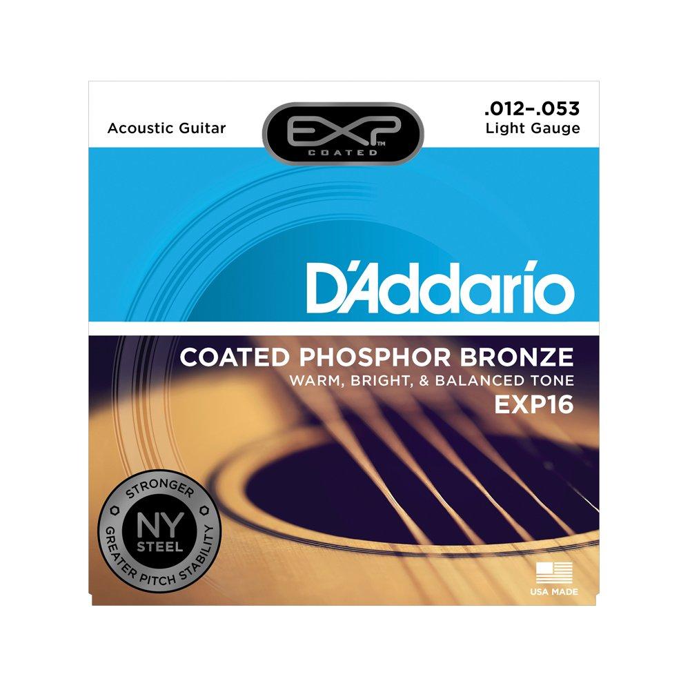 D'Addario EXP16 Coated Light Acoustic Phosphor Bronze 12-53