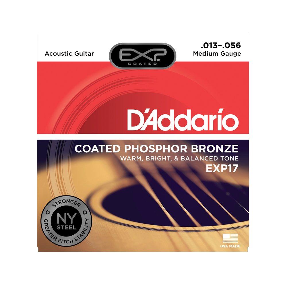 D'Addario EXP17 Coated Medium Acoustic Phosphor Bronze 13-56