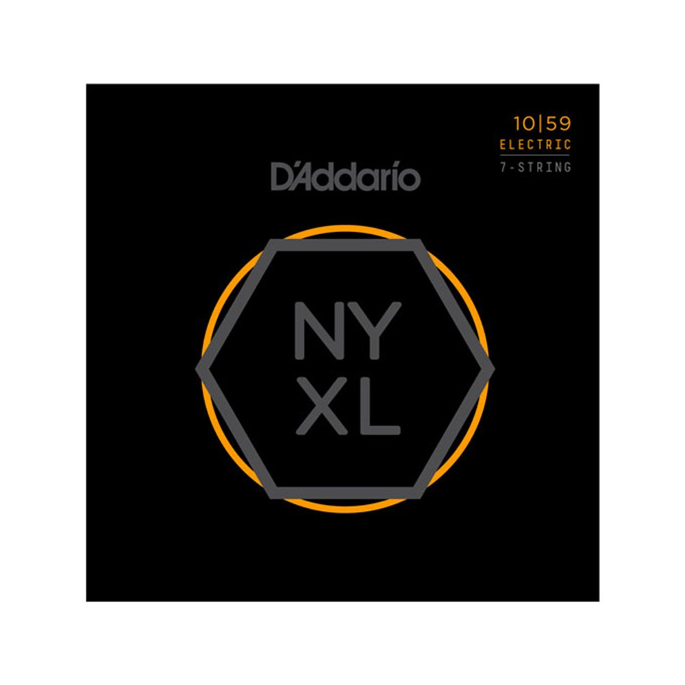 D'Addario NYXL Regular Light Electric 7-String 10-59