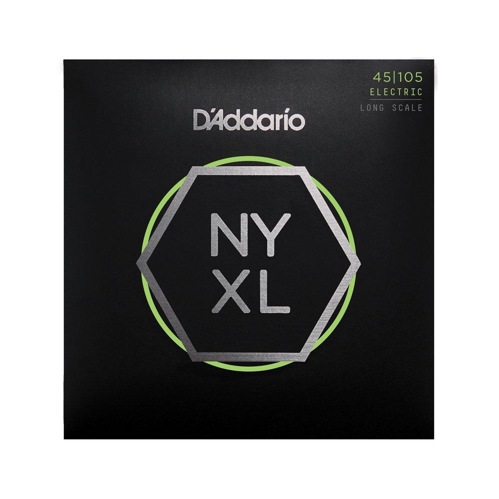 D'Addario NYXL Light Top/Medium Bottom Long Scale Bass 45-105