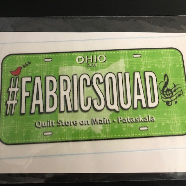 Row x Row License Plate 2018 #fabricsquad