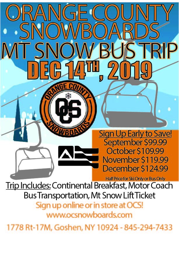 Orange County Snowboards Bus Trip