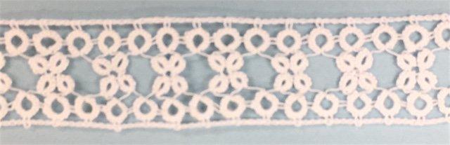 7/8 tatted beading - white 076