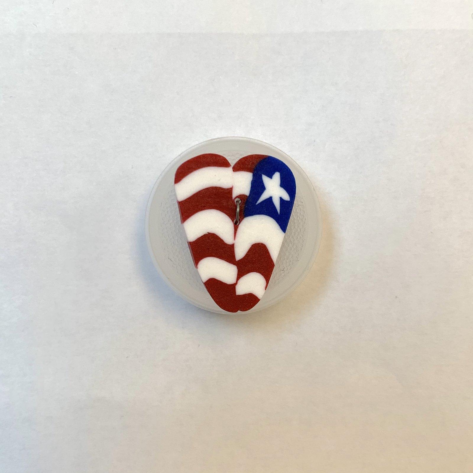 USA Love Button 5/8 inch