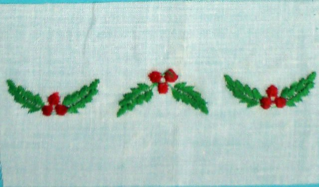 1 3/4 red and green embroidered insertion 10002