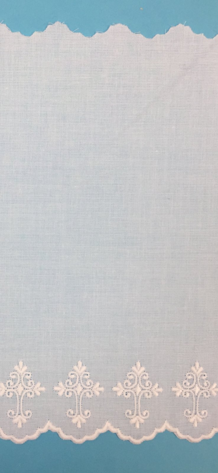 Swiss Embroidered Cross Edging 7.25 Inch White 100146W-14