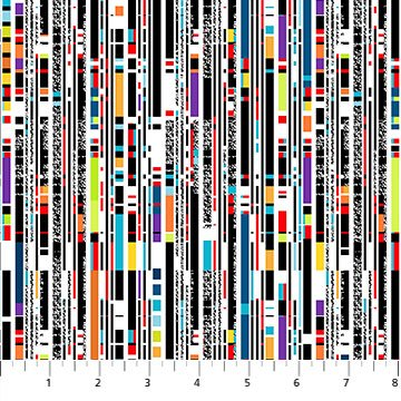 Rollicking Robots Glitch Stripe Multi 10041 10