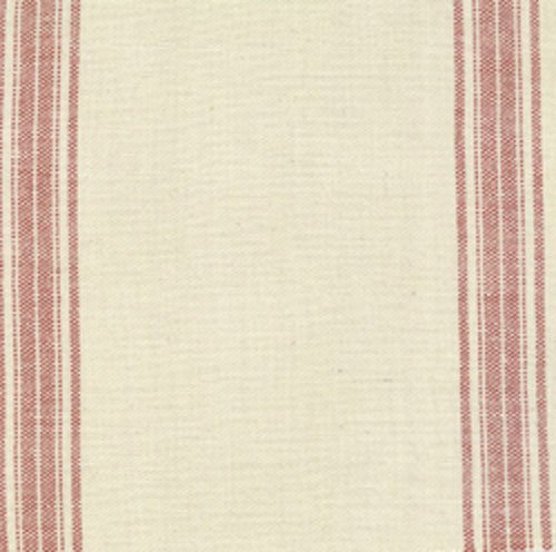 Rural Jardin Natural Toweling with Red Stripe 12553 46