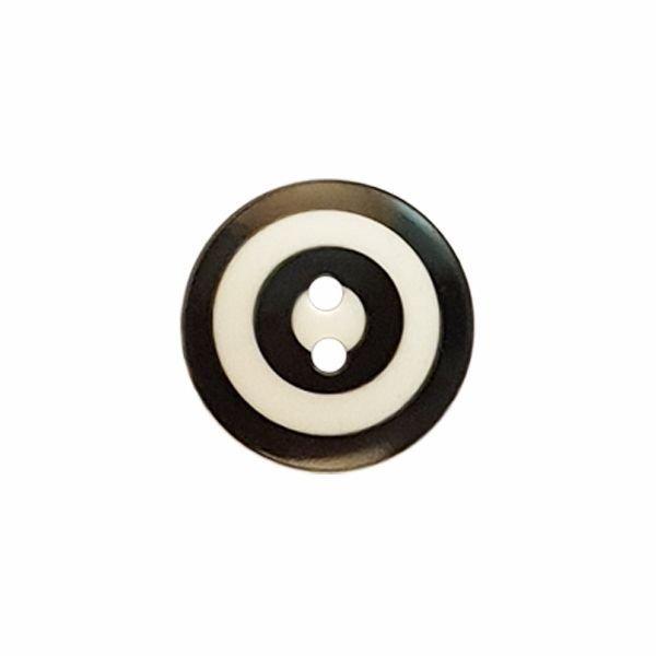 Kaffe Fassett Target 15mm Black and White 261393