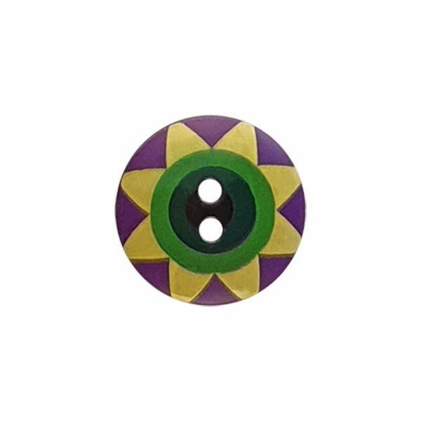 Kaffe Fassett Star Flower Violet Yellow Green Black 261402