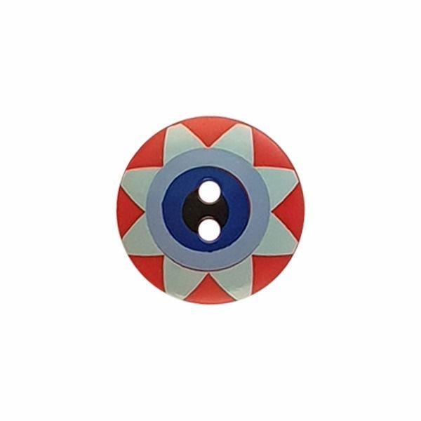 Kaffe Fassett Star Flower Red Blue and Black 261404