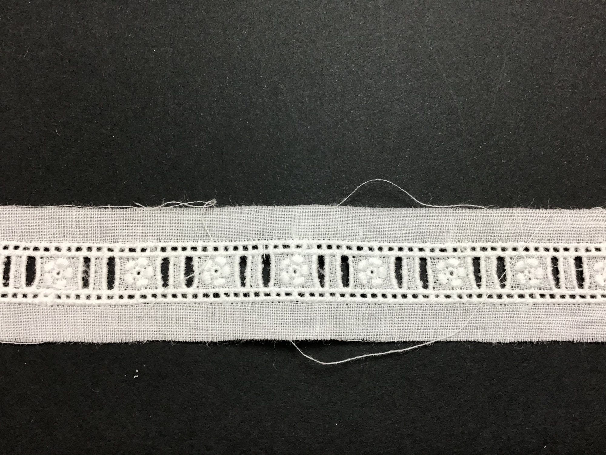 Swiss Embroidered Beading 3/8 Inch White 47543-04