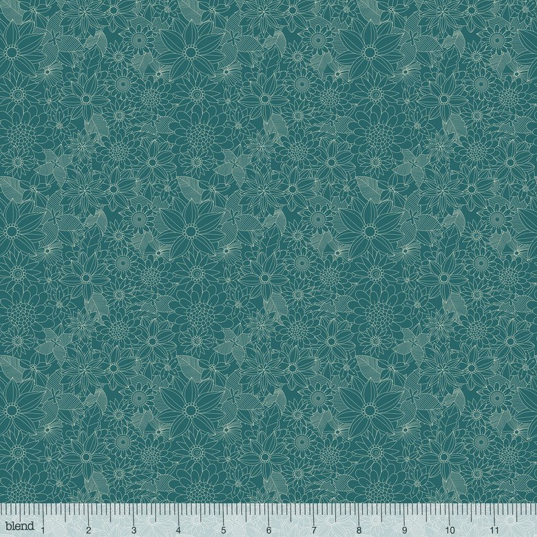 Floral Pets Sigrid Turquoise 129 101 04 1