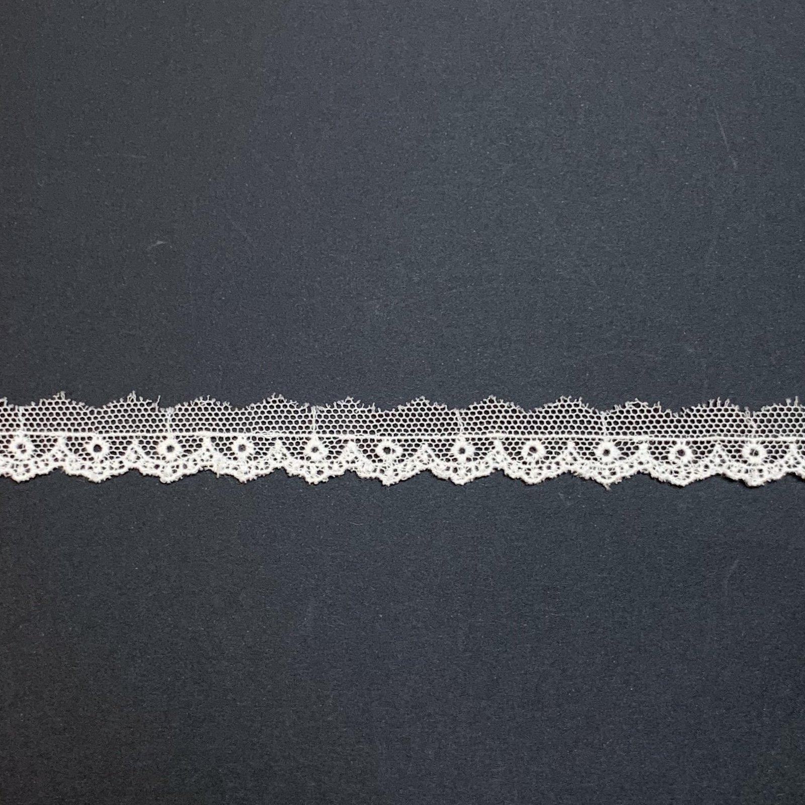 Netting Lace Edging 3/8 Soft White 121