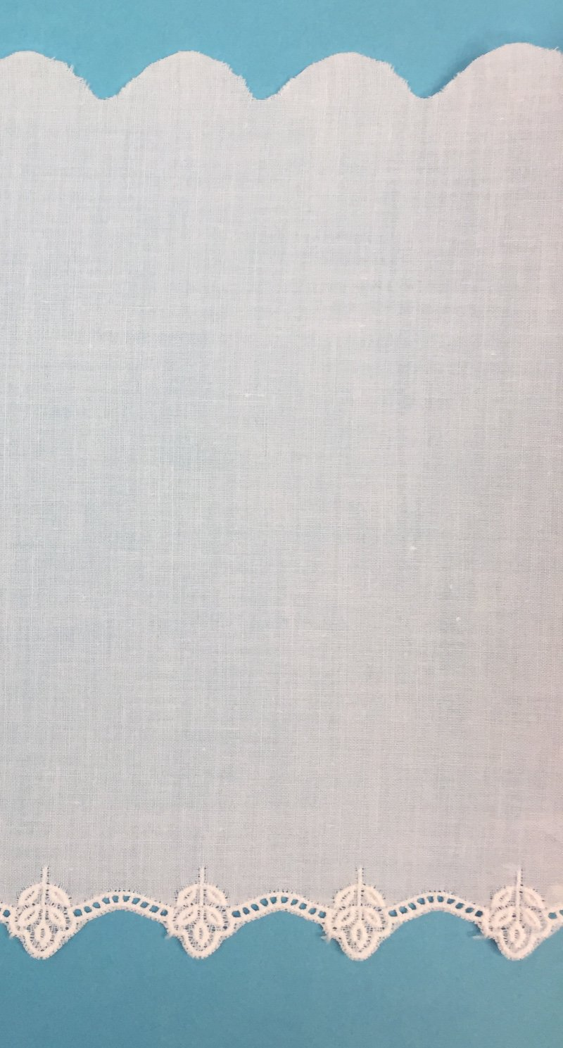 Swiss Embroidered Edging 6 Inch White 15014W-14
