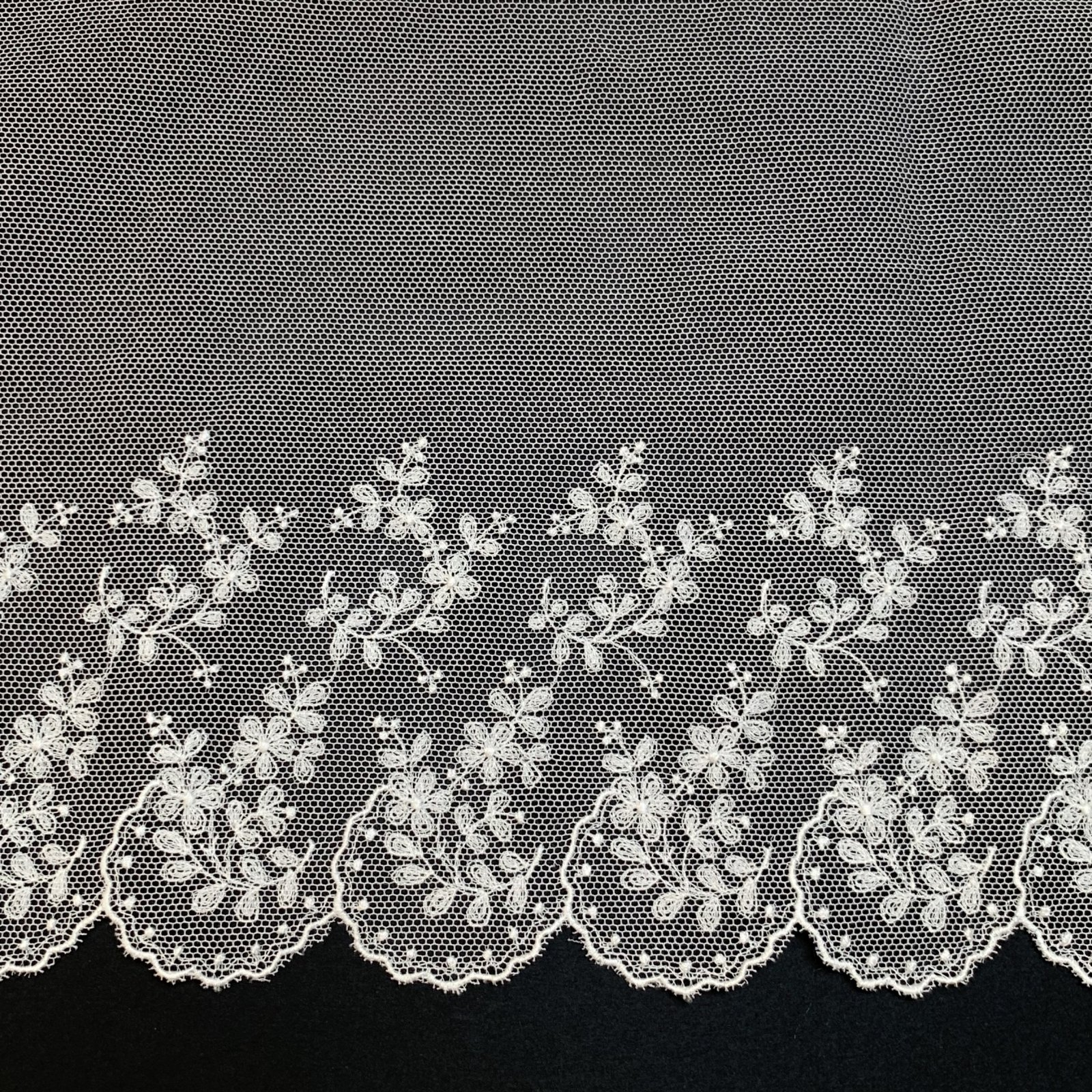 Netting Lace Edging 8 Inch Soft White 4206-8