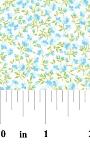 Turquoise Floral Fabric 1777