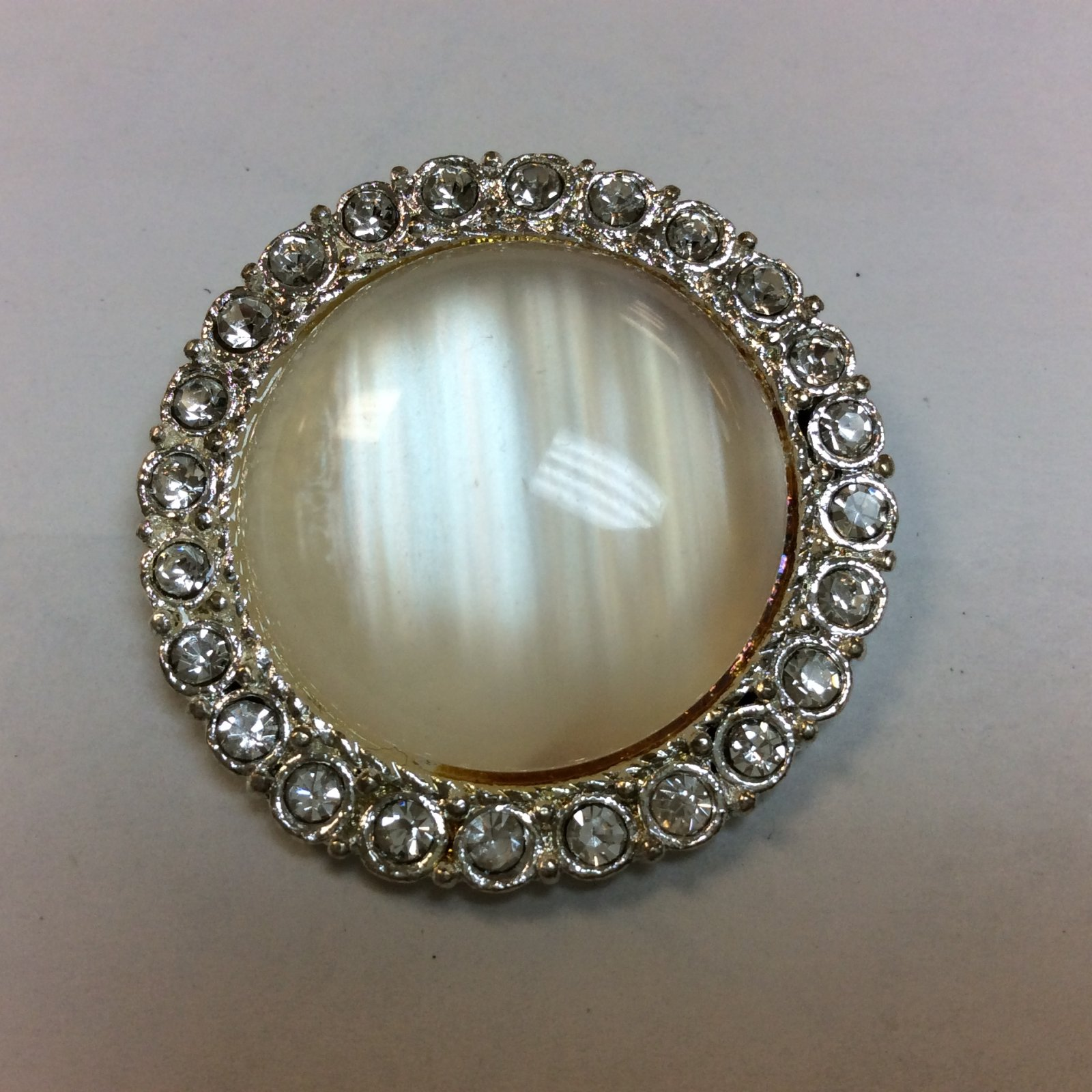 Moonstone Rhinestone Button 1 3/8 Inch 32901