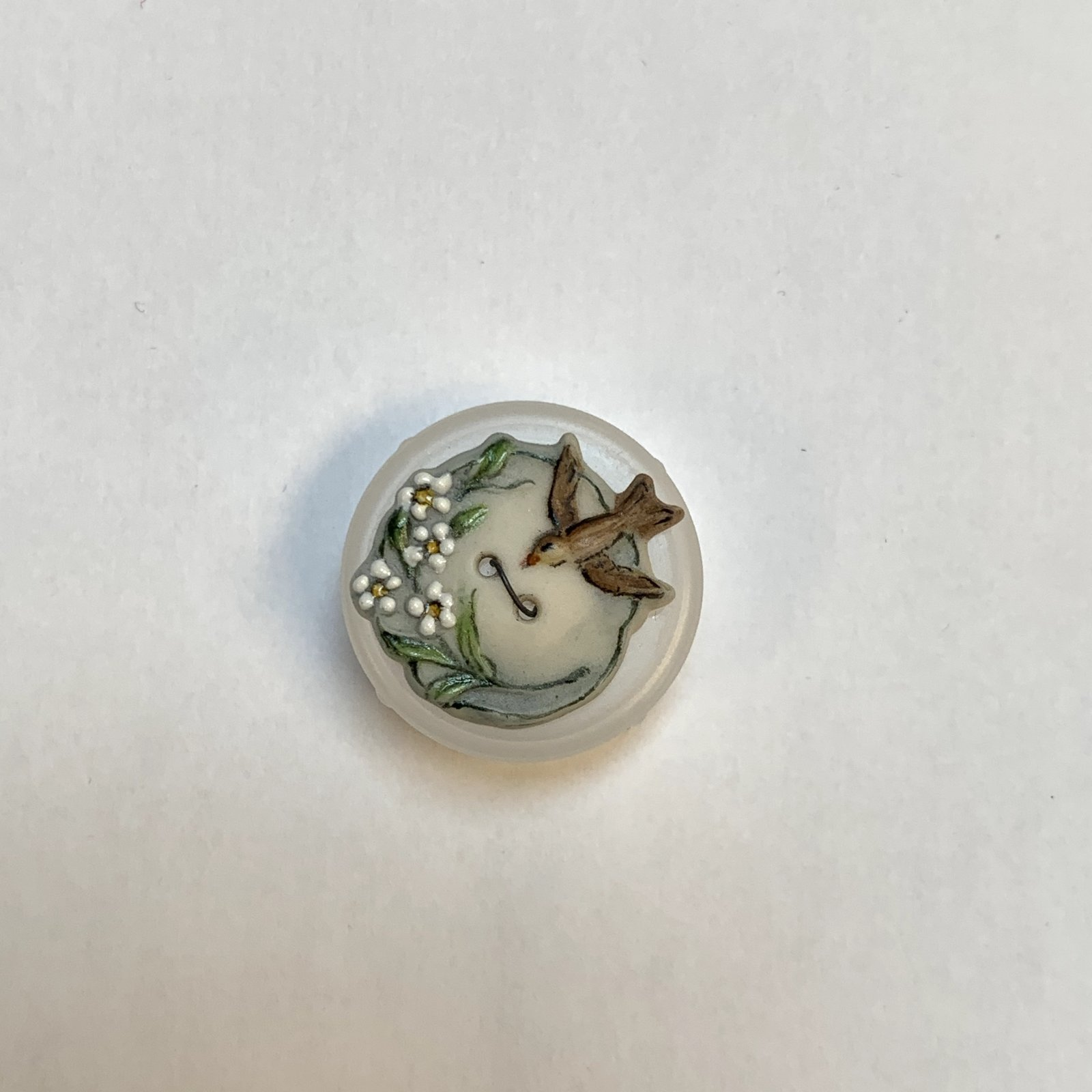 BIrd and Boom Porcelain Button 1 Inch XB-855