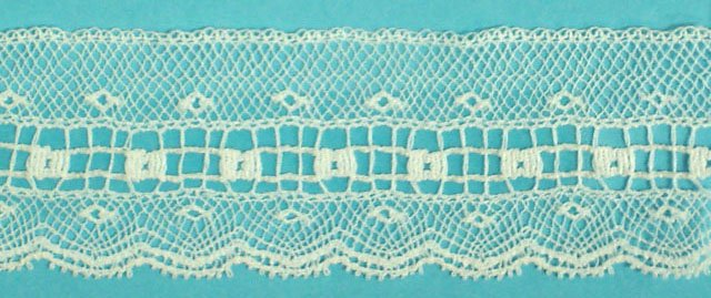1 lace edging - white 200583