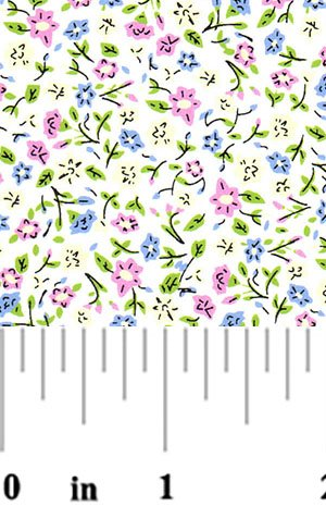 Pink Blue Yellow Flowers 2089