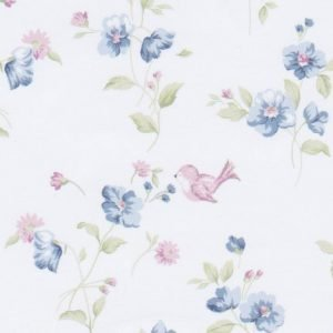 pink birds with blue flowers 2144