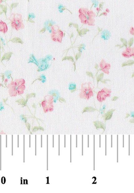Blue Bird on Pink Floral 2145