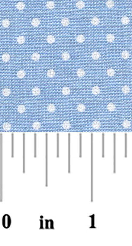 Dot Fabric Blue and White 2162