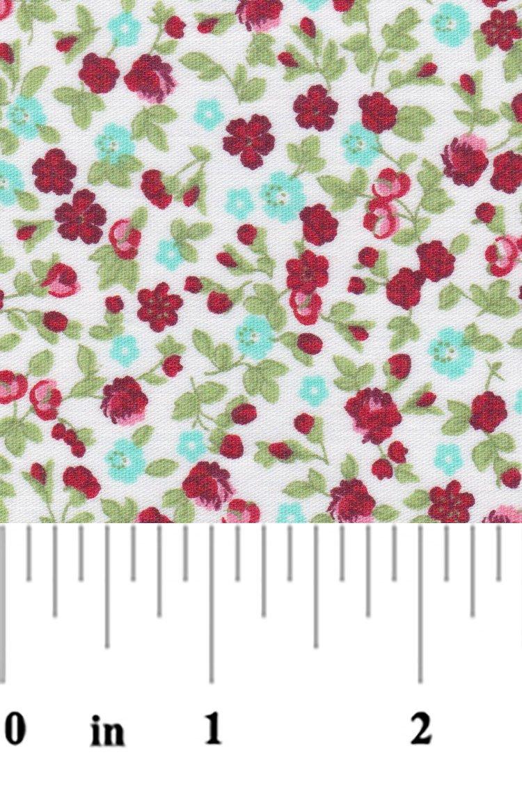 Red Aqua Florals 2183