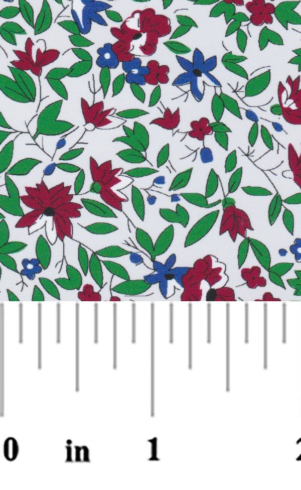 Red Navy Floral 2204
