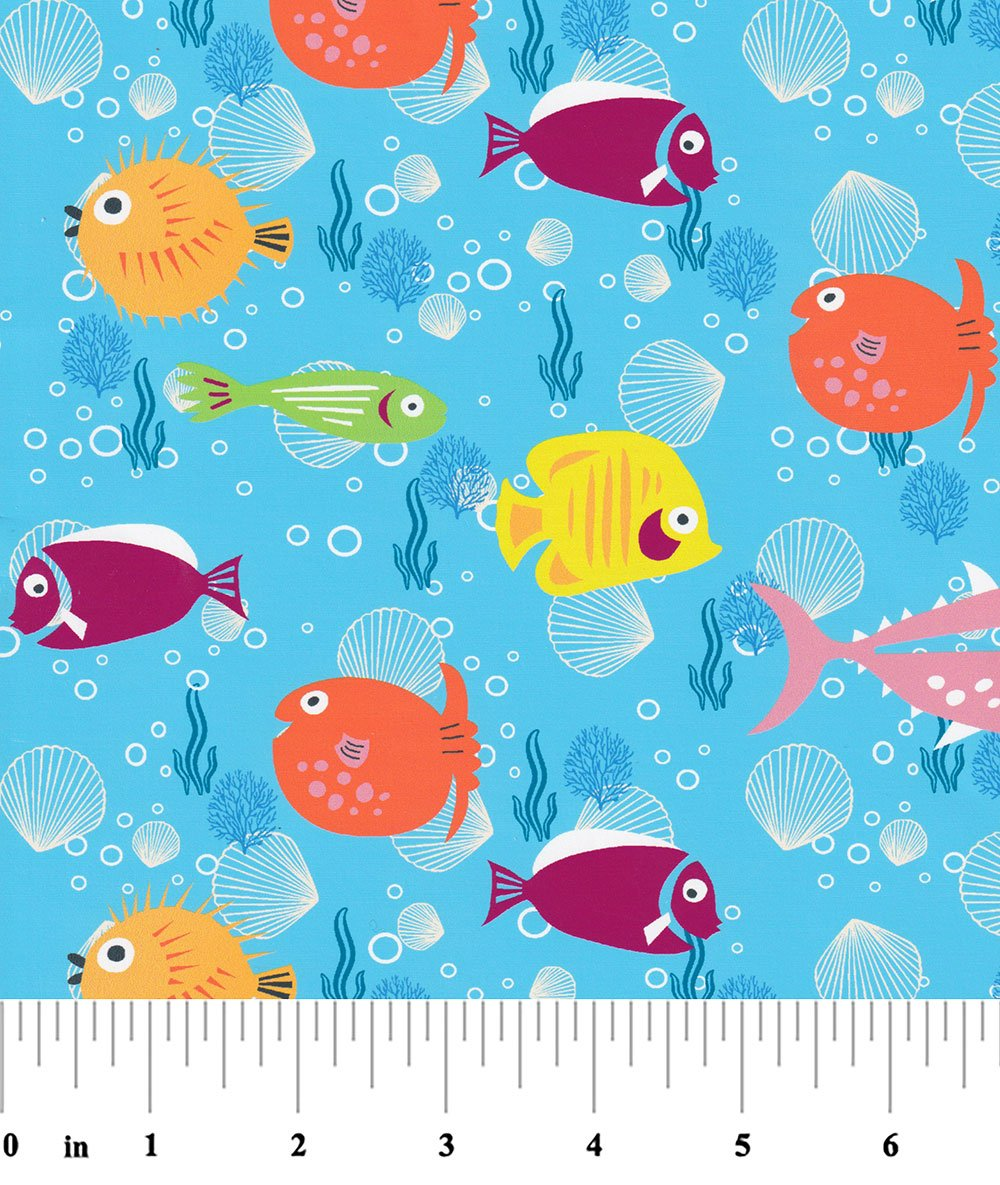 Brightly Colored Fish Fabric 2292