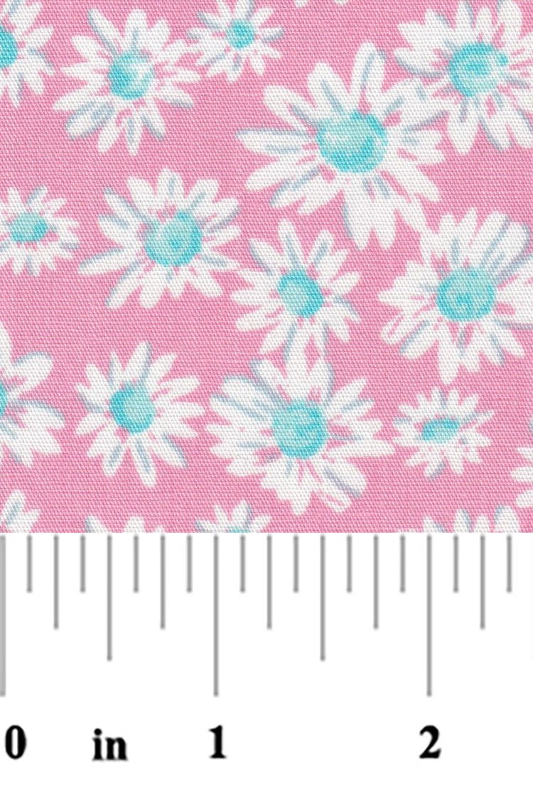Pink Blue and White Floral Fabric 2295