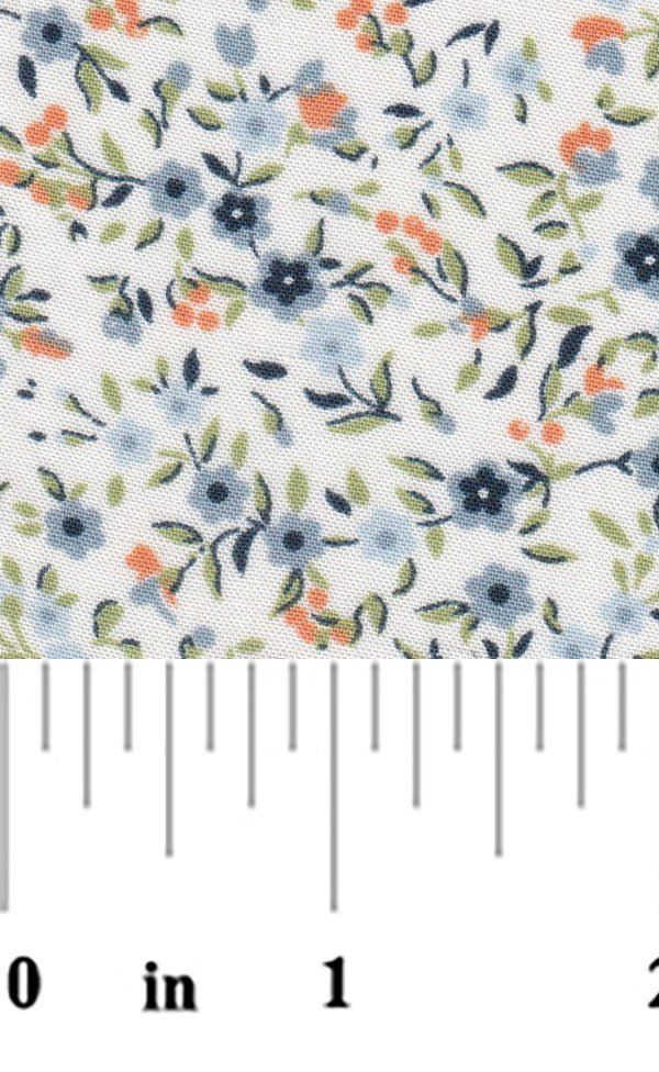 Blue and Orange Floral Print 2324