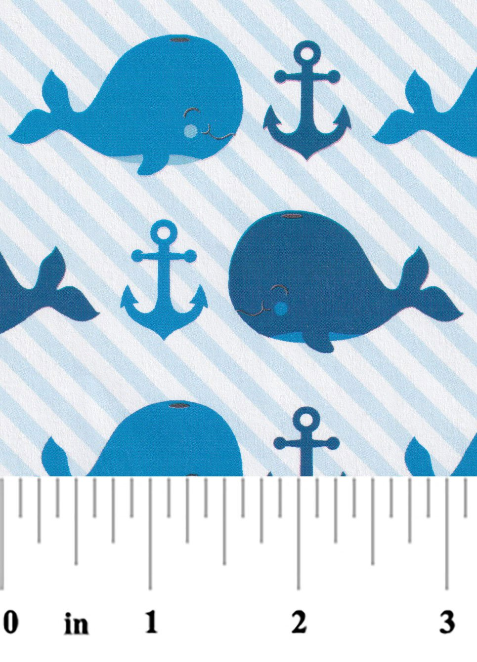Whale Print in Blue and Navy 2346