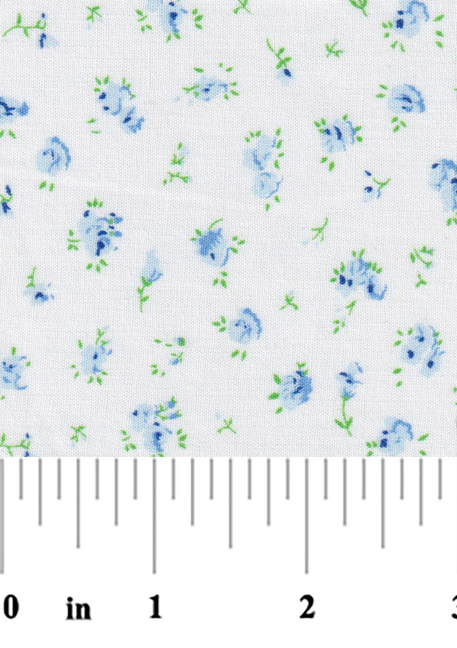 Blue and Green Floral 2367