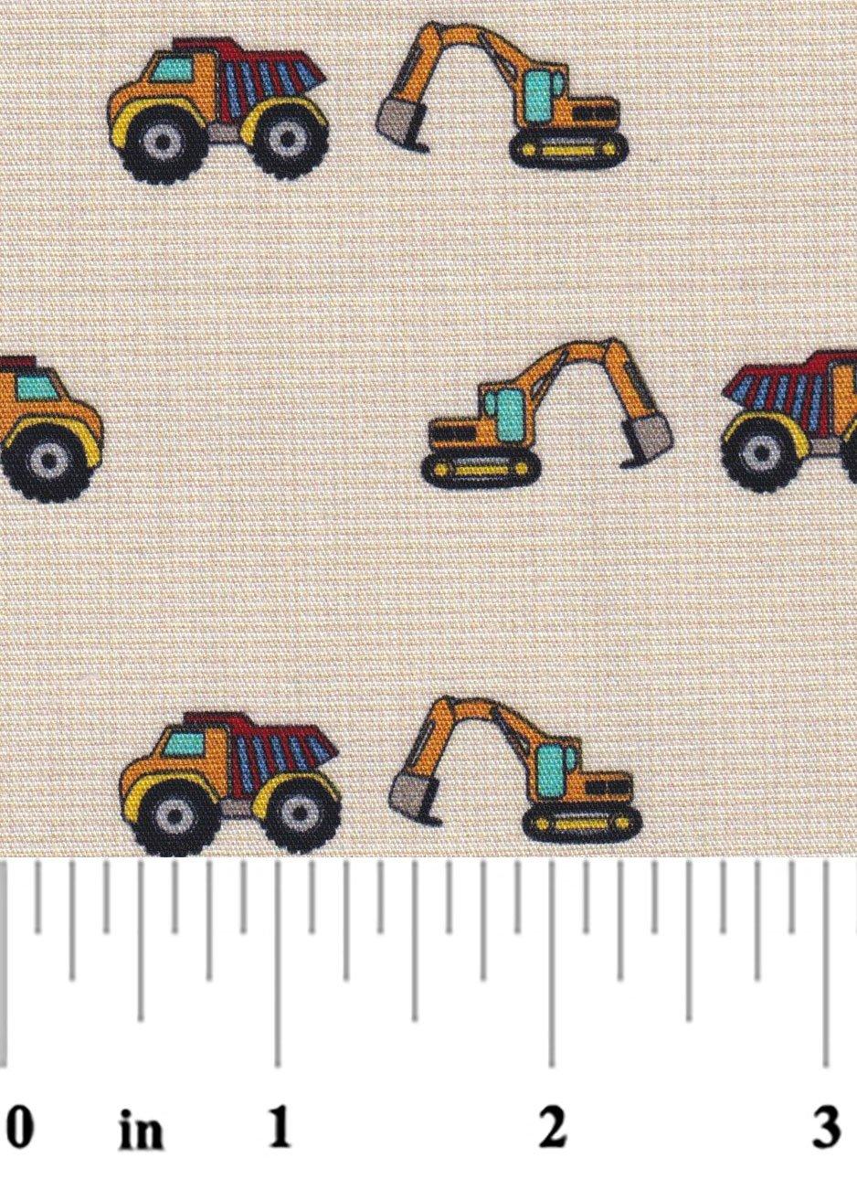 Construction Theme Khaki Micro Check 2379